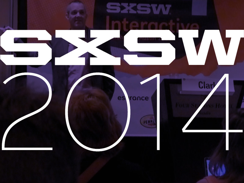 """photo of Josh Clark at SXSW 2014 """"Mind the Gap: UI Design Between & Among Devices"""" Session"""